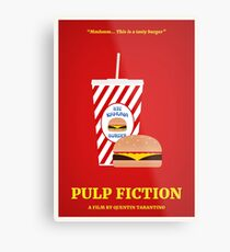 Pulp Fiction film poster Metal Print