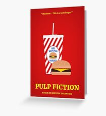 Pulp Fiction film poster Greeting Card