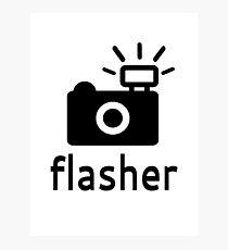 Flasher Photographic Print