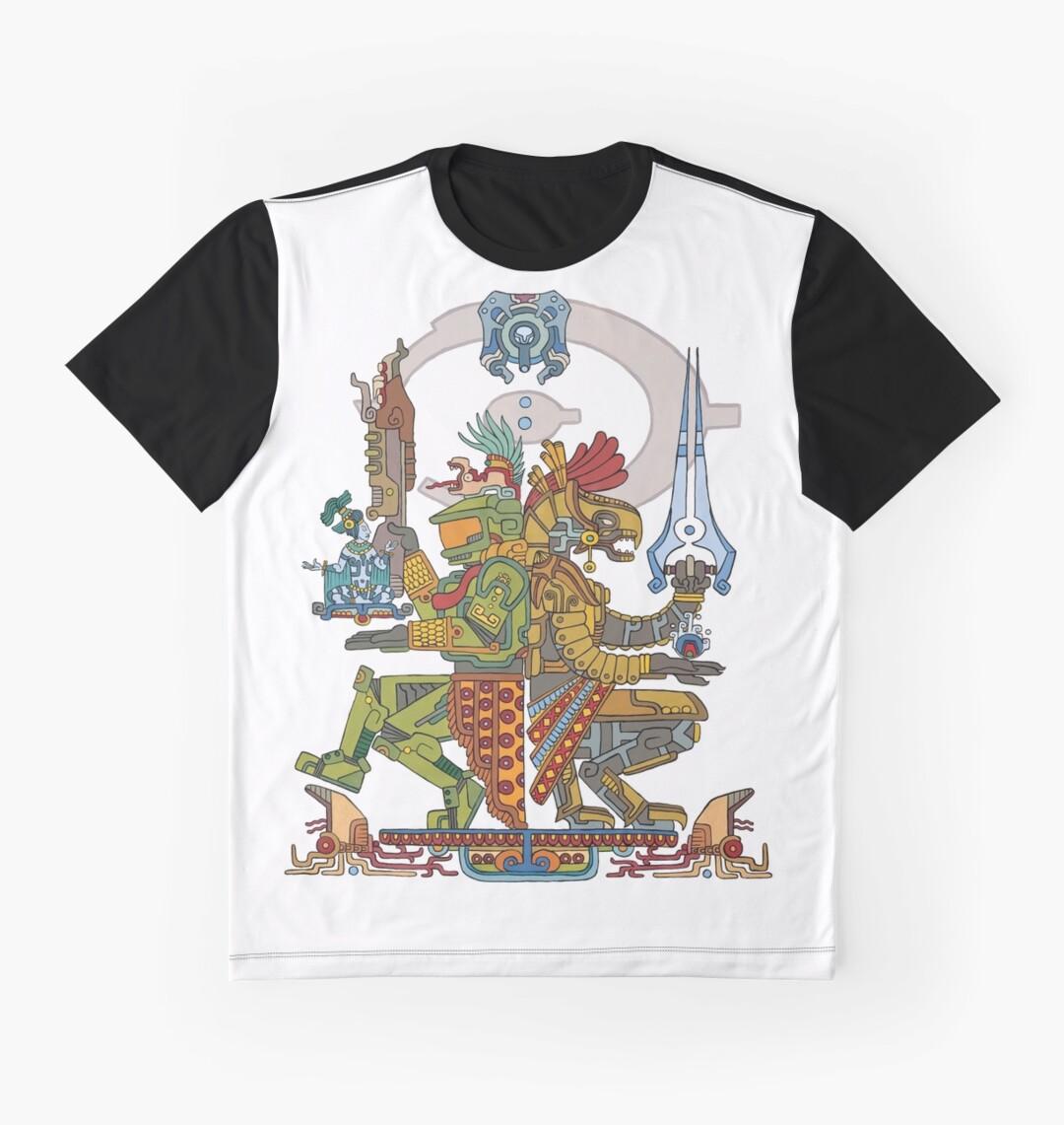 Design shirt redbubble - Halo Inspired Maya Design Gods Among