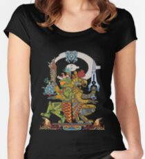"Halo Inspired Maya design ""Gods Among""  Women's Fitted Scoop T-Shirt"