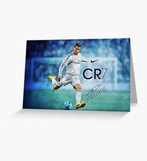 Ronaldo Pillow  Greeting Card