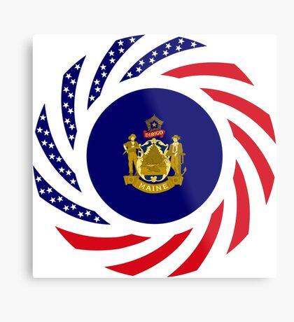 Maine Murican Patriot Flag Series 1.0 Metal Print