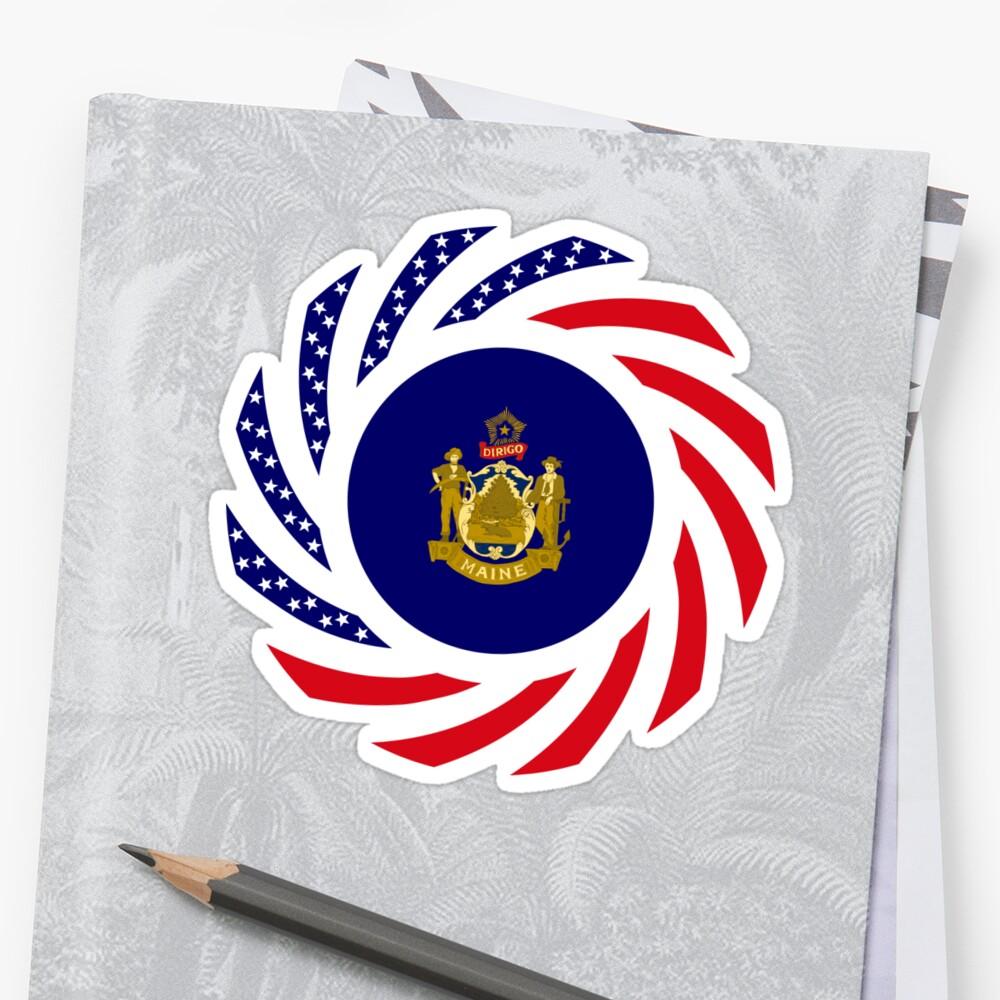 Maine Murican Patriot Flag Series 1.0 Sticker