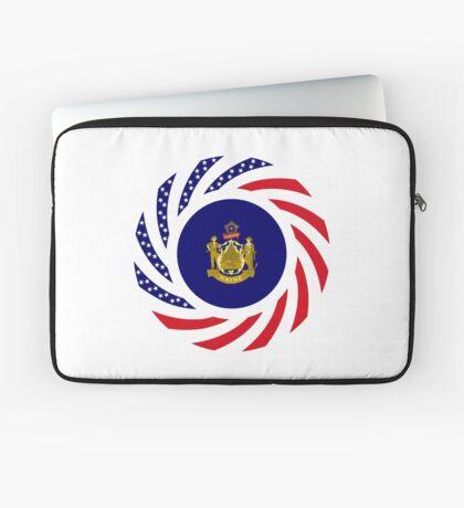 Maine Murican Patriot Flag Series 1.0 Laptop Sleeve