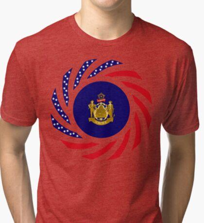 Maine Murican Patriot Flag Series 1.0 Tri-blend T-Shirt