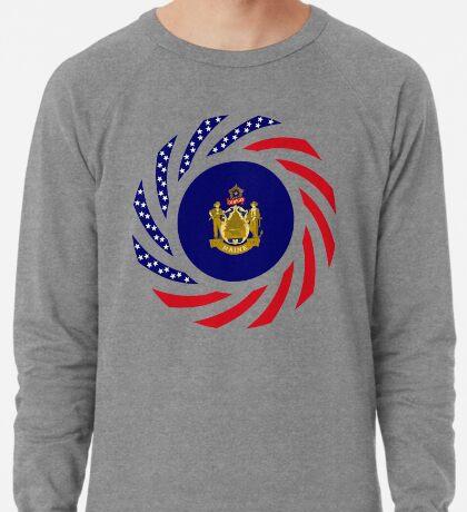 Maine Murican Patriot Flag Series 1.0 Lightweight Sweatshirt