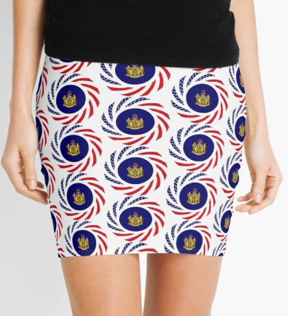Maine Murican Patriot Flag Series 1.0 Mini Skirt