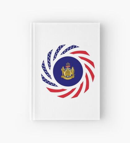 Maine Murican Patriot Flag Series 1.0 Hardcover Journal