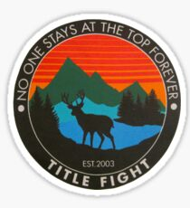 Title Fight  Sticker