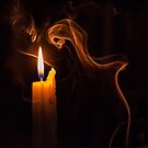The candle and the smoke by dcarphoto