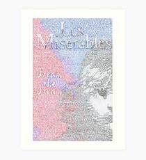 Les Miserables Lyric Art Art Print