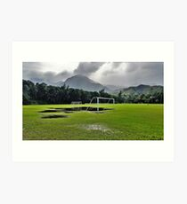The Beautiful Game on the Garden Isle Art Print