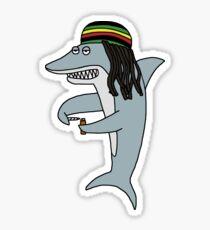 Reggae Shark Sticker