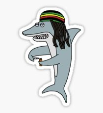 Reggae Shark Sticker