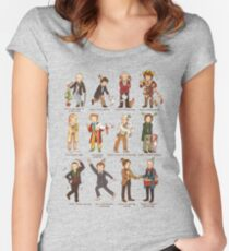 The Twelve Doctors of Christmas Women's Fitted Scoop T-Shirt