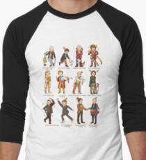 The Twelve Doctors of Christmas Baseball ¾ Sleeve T-Shirt