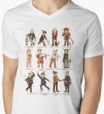 The Twelve Doctors of Christmas Men's V-Neck T-Shirt