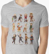 The Twelve Doctors of Christmas V-Neck T-Shirt