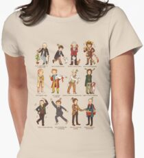 The Twelve Doctors of Christmas Women's Fitted T-Shirt