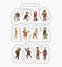 The Twelve Doctors of Christmas Sticker