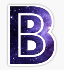 The Letter B - Space Sticker