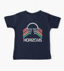 Vintage Horizons Distressed Logo in Vintage Retro Style Baby Tee