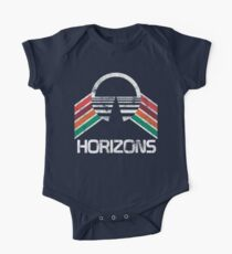 Vintage Horizons Distressed Logo in Vintage Retro Style One Piece - Short Sleeve