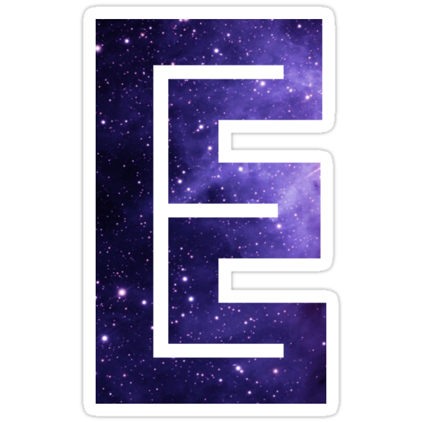 Quot The Letter E Space Quot Stickers By Mike Gallard Redbubble