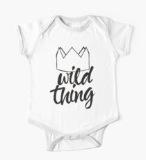 Wild Thing (black & white) One Piece - Short Sleeve