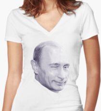 Putin Women's Fitted V-Neck T-Shirt