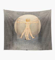 Vitruvian man 14 (enlightenment) Wall Tapestry