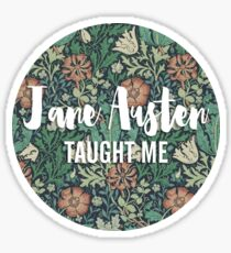 LIT NERD :: JANE AUSTEN TAUGHT ME Sticker