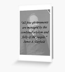 Garfield - Free Governments Greeting Card