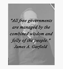 Garfield - Free Governments Photographic Print