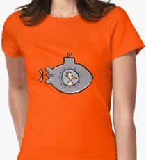 submarine Womens Fitted T-Shirt
