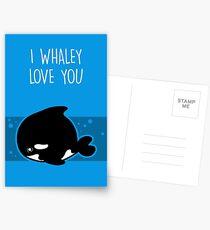 I Whaley Love You Postcards