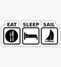 Eat Sleep Sail Sticker