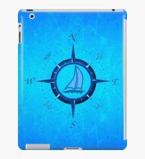 Sailboat And Compass Rose iPad Case/Skin