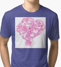 Pinky Hearty Weather Tri-blend T-Shirt