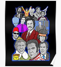 Will Ferrell collage art tribute Poster
