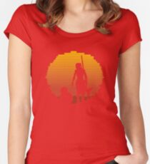 Star Wars - BB-8 & Rey : Jakku Sunset Women's Fitted Scoop T-Shirt