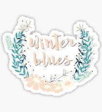 Winter Blues 004 Sticker