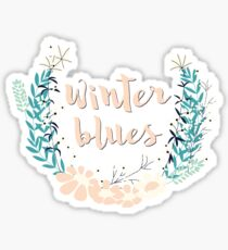 Winter Blues 004 Sticker
