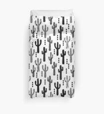 Kaktuswüste Südwest Tribal Succulent Terrarium Dreieck geometrische schwarz und weiß Bettbezug