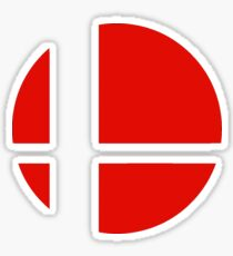 Super Smash Bros red logo Sticker