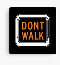 Don't Walk, Traffic Light, USA Canvas Print
