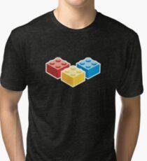 3 Bricks on dark background Tri-blend T-Shirt