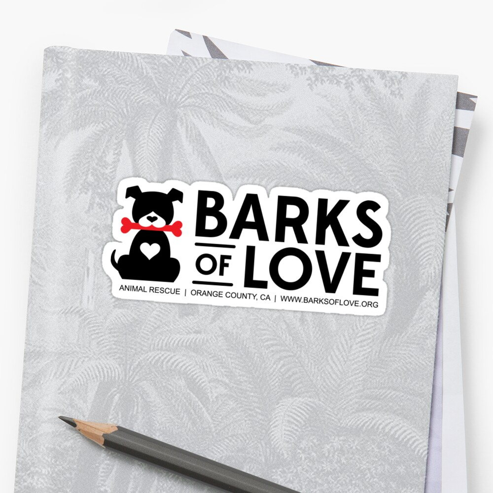 Barks of Love Stickers by Barks of Love Animal Rescue