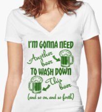 St Patricks Day Beer Drinking Humor Women's Fitted V-Neck T-Shirt